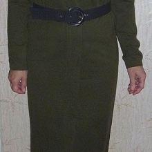 Платье женское полушерстяное трикотажное (цвет хаки) объявление продам