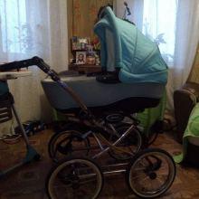 Продам коляску б/у в хорошем состоянии, 2 в 1 .В комплекте дождевик,москитная сетка,накидки объявление продам