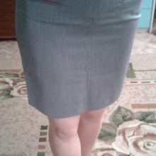 Серая юбка объявление продам