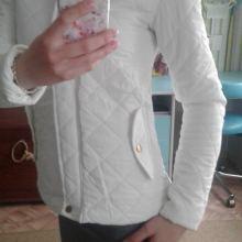 Белая курточка объявление продам