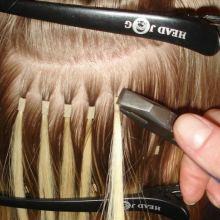 Капсульное (горячее) наращивание волос в Гомеле от парикмахерской студии Sharm Club объявление услуга