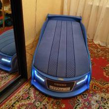 Кровать-машина «Ауди-А4» синяя для детей до 6 лет (состояние – идеальное) объявление продам