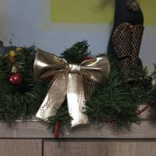 Новогоднее украшение бант золотой объявление продам