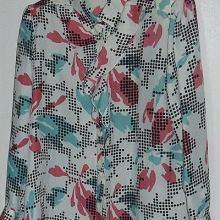 Блузка пестрая с воланом объявление продам