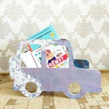 Полка для книг детская в виде машинки объявление продам