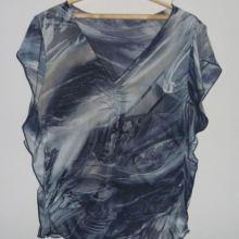 Блузка серая пестрая объявление продам