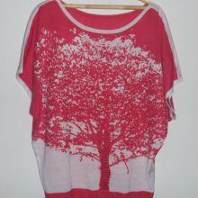 Блузка розово-белая со стразами объявление продам