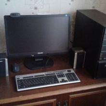 Компьютер с монитором, камерой и колонками. В рабочем состоянии объявление продам