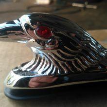 Хромированный орёл со светящимися глазами для мотоцикла объявление продам