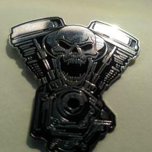 Значок для байкера Хранитель Двигателя металлический с закруткой объявление продам