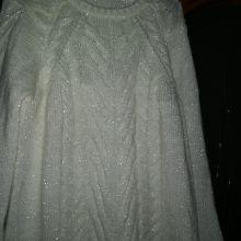 Кофта нарядная белый трикотаж р-р 48-50 Турция объявление продам