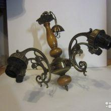 Винтажная люстра бронзовая пять рожков (Югославия) новая объявление продам