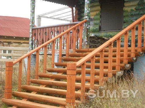 Изготовление деревянных лестниц(в доме и вне дома) из полубревна объявление продам