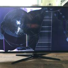 Телевизор ЖК (LCD) залитый или разбитый экран объявление куплю