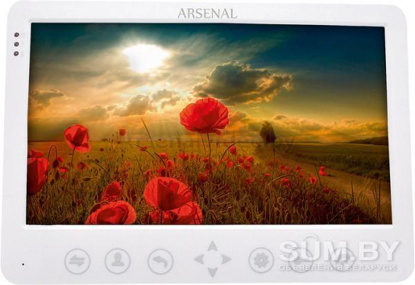 Видеодомофон Arsenal Грация (Белый) + вызывная панель объявление продам