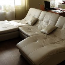 Кожаный диван Armani Silver объявление продам