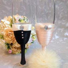 """Свадебные бокалы """"Mr & Mrs"""" объявление продам"""