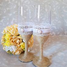 """Свадебные бокалы """"Рустик"""" объявление продам"""
